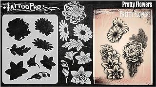 Tattoo Pro-stencils - mooie bloemen, Mylar Airbrush-tatoeagesjabloon, herbruikbare schminksjabloon