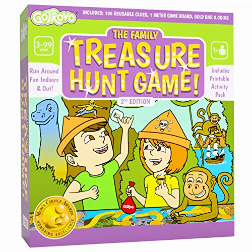 GoTrovo Treasure Hunt Game Fun Scavenger Hunt Board Game for Kids Indoors and...