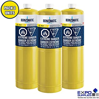 Berzomatic MAP-Pro Gas Cylinder 14.1 oz Pre-Filled Torch Style Cylinder