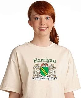 Harrigan Irish coat of arms tee shirt in Natural