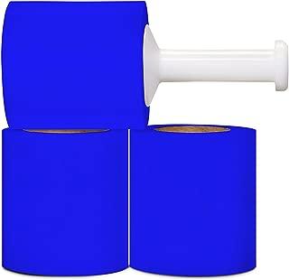 Stretch Wrap Film, Bundling Wrap, Blue, 5 Inch x 1000 Feet, 80 Gauge, 12 Pack