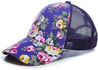 MKJNBH Summer Lady Flower Net Hat Baseball Cap Caps Sun Visor