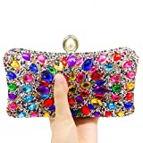 Gold Synthetic Pearl Clasp Women Crystal Clutch Evening Handbags Wedding Cocktail Dinner Purse