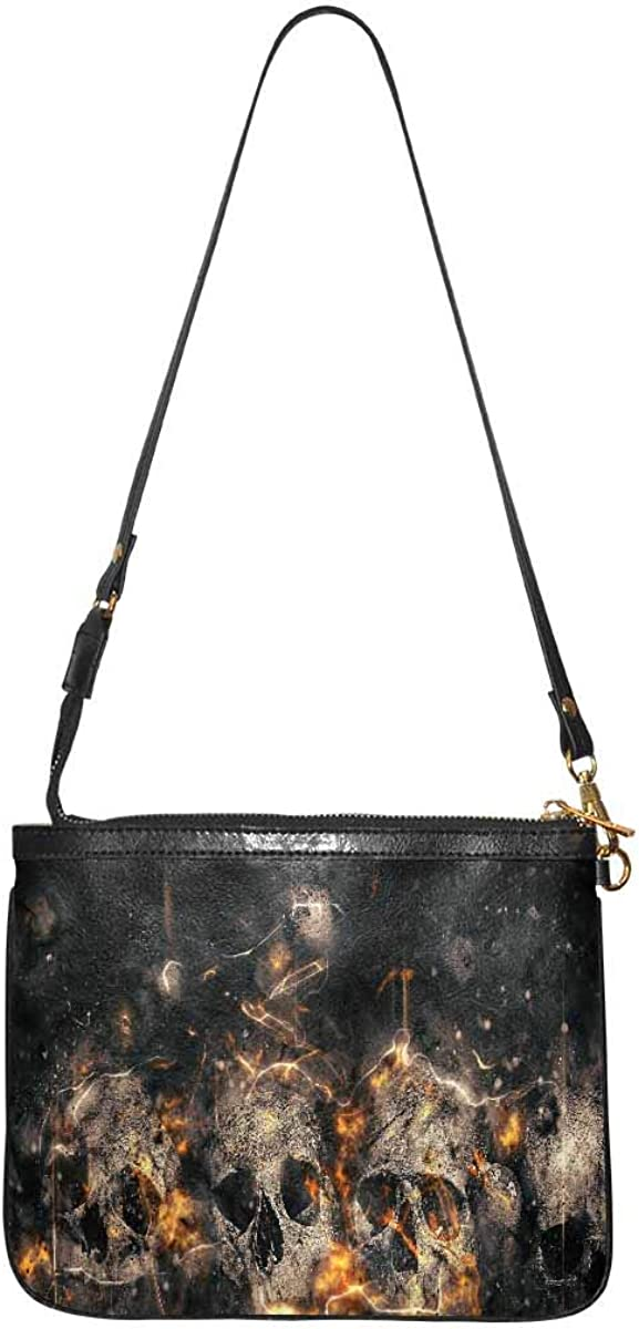 InterestPrint Women Stylish Shoulder Bag Small Lightweight Purse Over the Shoulder Halloween Retro House