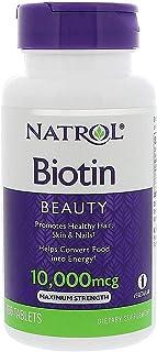 Biotina Natrol 10000 Mcg 100 Tablets Saúde Unha Cabelos Pele