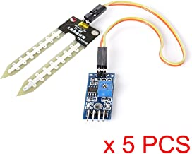 WINGONEER® 5pcs Soil Hygrometer Humidity Detection Water Sensor Module YL-69 Sensor and HC-38 Module for Arduino
