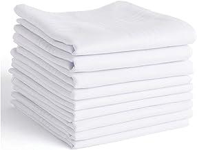 Men's Handkerchiefs,100% Soft Cotton,White Hankie