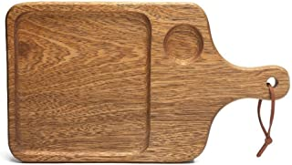 FJFSC Cutting Board Piece Set Long Handle Thick Non-Cracking Antibacterial Anti-Skid Cutting Board, Wood Color