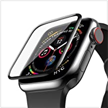 ZZ ZONEX 3D Full Coverage Screen Protector for Apple iWatch Series 4/5/6 -44mm - Black