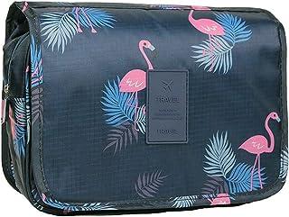 Hängande resetoalettväska, tvättväska bärbar sminkväska för kvinnor, stor kapacitet sminkväska perfekt för resor/daglig an...