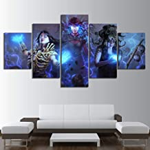 JLJLJL 5 Piece Path of Exile Game Poster Fantasy Art Wall Paintings Skull Dark Style Horror Pictures Canvas Art for Home Decor Artworks