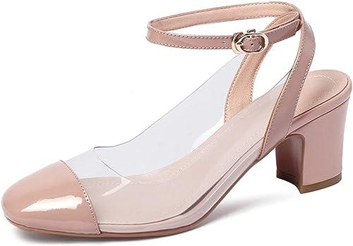 Cross Strap Sandals damen Square Toe Footwear Transparent PVC Sandals High Heels