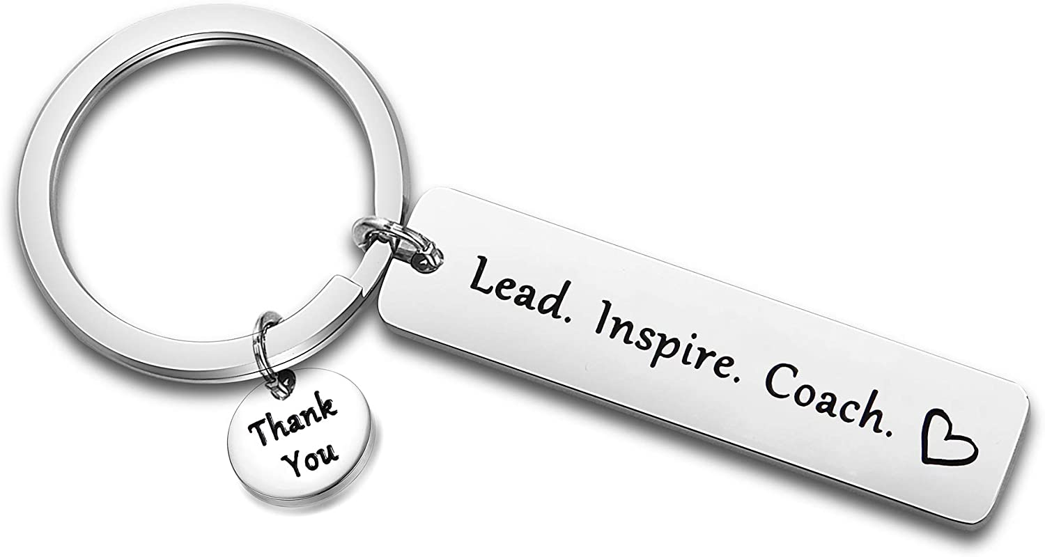 FEELMEM Coach Recommended Gift Lead free Inspire fo Thank You Keychain