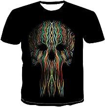 Mannen T-shirt met korte mouwen 3D Schedel Baard G...