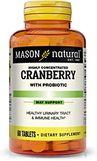 Mason Natural, Cranberry with Probiotic and Added Vitamin C and Calcium Tablets, 60 Count, Dietary Supplement that support...