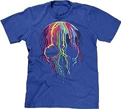 Blittzen Mens T-Shirt Melting Skull