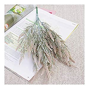 ZHXDXF Lifelike 7 Branches Foxtail Artificial Flowers Autumn Home Hotel Decoration Wedding Bridal Bouquet Fake Flowers Festival Holiday Home Décor