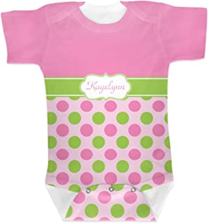 Pink & Green Dots Baby Onesie (Personalized)
