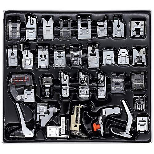 ShawFly Home - Máquina de coser, accesorios de pie y prensatelas (32 piezas)