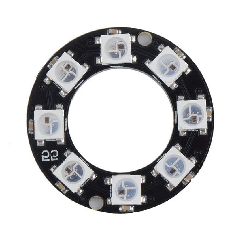 状態注文地中海Tivollyff LEDリング8 x WS2812B 5050 RGB統合ドライバArduino 8ビットY45超高輝度スマートLedリングブラック