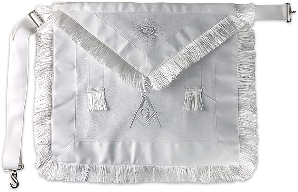 Masonic Apron Synthetic Leather Embroider with G Square Colorado Springs Mall Compass Courier shipping free shipping
