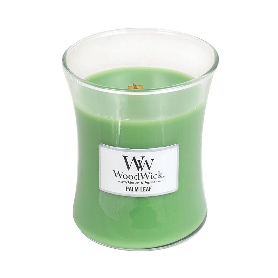 責任者従順認識Woodwick Palm Leaf , Highly Scented Candle、クラシック砂時計Jar、Medium 4インチ、9.7?Oz