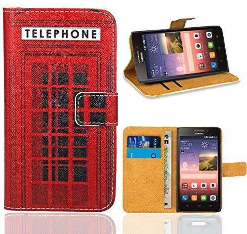 FoneExpert® Huawei Ascend G620s Handy Tasche, Wallet Hülle Flip Cover Hüllen Etui Ledertasche Lederhülle Premium Schutzhülle für Huawei Ascend G620s