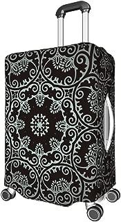 Striped Pattern Mandela Travel Luggage Cover - Mandela Art Polyester Multi Size suit Protective Suitcase white5 m (22-24 inch)