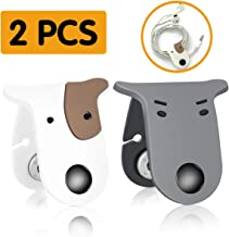 Earbuds Earphone Holder Cord Winder Clip Keeper Headphone Cord Wrap Management Headset Tangle Free Wire Organizer 2 PCS Cute Doggie