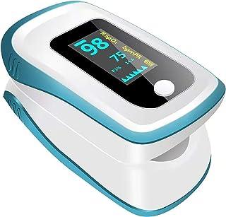 【在庫あり即時に発送】[医療機器認証]2021年最新アップデート版 携帯 便利 用指モニター 高精細LED 酸_素濃度計 LYS-2 (青い)