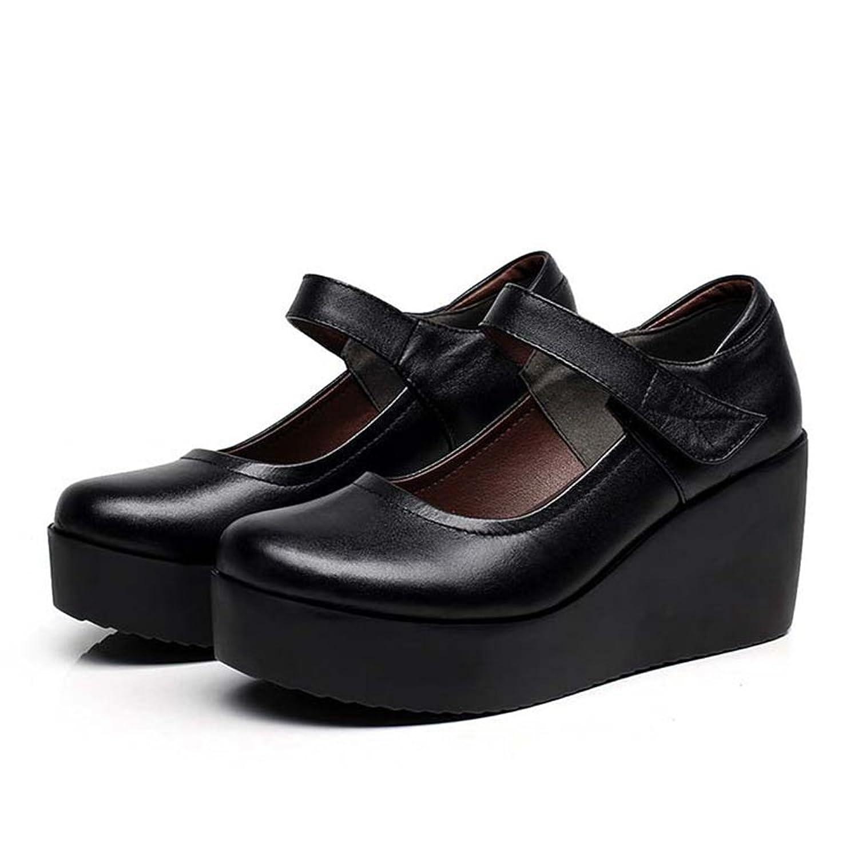 美脚 厚底 コンフォートシューズ レディース 靴 パンプス 痛くない 歩きやすい ヒール 黒 ブラック ウェッジソール 仕事 ストラップ 無地 ソフト 仕事 履き心地 ウェッジ 大きいサイズ 26cm 小さいサイズ 22cm