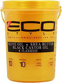 [ NEW ARRIVAL ] ECO STYLING GEL- GOLD VERSION W Olive, SHea Butter, Black Castor, And Flaxseed Oil 5LB