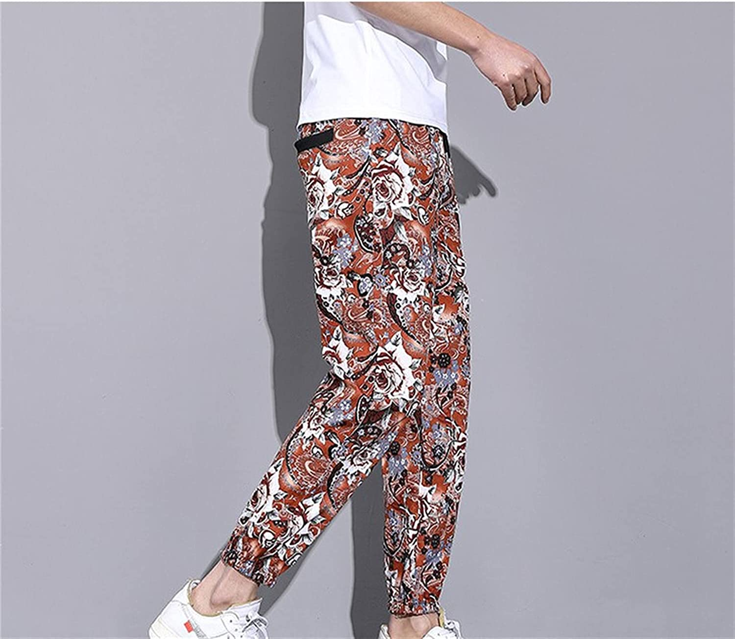 price Men Long-awaited Novelty Graphic Colorful Printing Leaves Flowers and