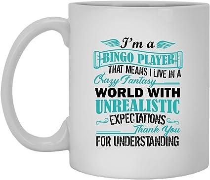 Amazon Com Bingo Mug Coffee White Ceramic Tea Cup 11oz Bingo Mugs For You And Family White Mug 11oz Clothing