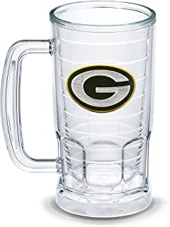 Tervis 1303312 NFL Green Bay Packers Primary Logo Insulated Tumbler with Emblem, 16oz Beer Mug, Clear