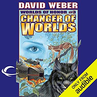 Changer of Worlds     Worlds of Honor #3              By:                                                                                                                                 David Weber,                                                                                        Eric Flint                               Narrated by:                                                                                                                                 Allyson Johnson,                                                                                        Victor Bevine,                                                                                        Lauren Fortgang,                   and others                 Length: 14 hrs and 11 mins     333 ratings     Overall 4.5