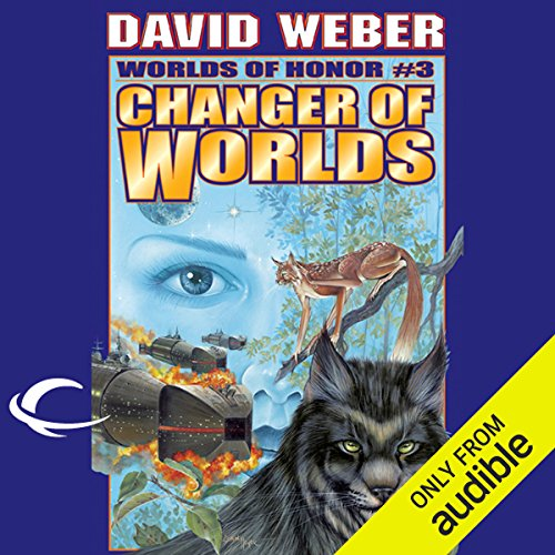 Changer of Worlds     Worlds of Honor #3              Written by:                                                                                                                                 David Weber,                                                                                        Eric Flint                               Narrated by:                                                                                                                                 Allyson Johnson,                                                                                        Victor Bevine,                                                                                        Lauren Fortgang,                   and others                 Length: 14 hrs and 11 mins     1 rating     Overall 4.0