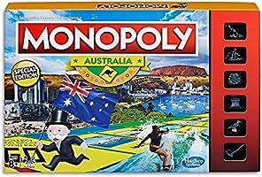 MONOPOLY - Australia Edition - Unique Events: State of Origin, Melbourne Cup - Aussie Tokens: Kangaroo, BBQ, Surfer,...