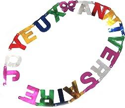 Bakicey Anniversaire banni/ère D/écoration Mariage d/écorations pour f/êtes Happy Birthday Banderole /& Ballons pour Filles pour Anniversaire f/êtes Bleu d/écorations principales Baby Shower