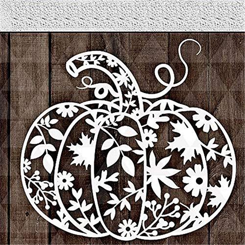 Oce180anYLV Kreative Stanzformen für Halloween, Kürbis-Ausstechformen, DIY Papier Karten Basteln Prägung Schablone silber