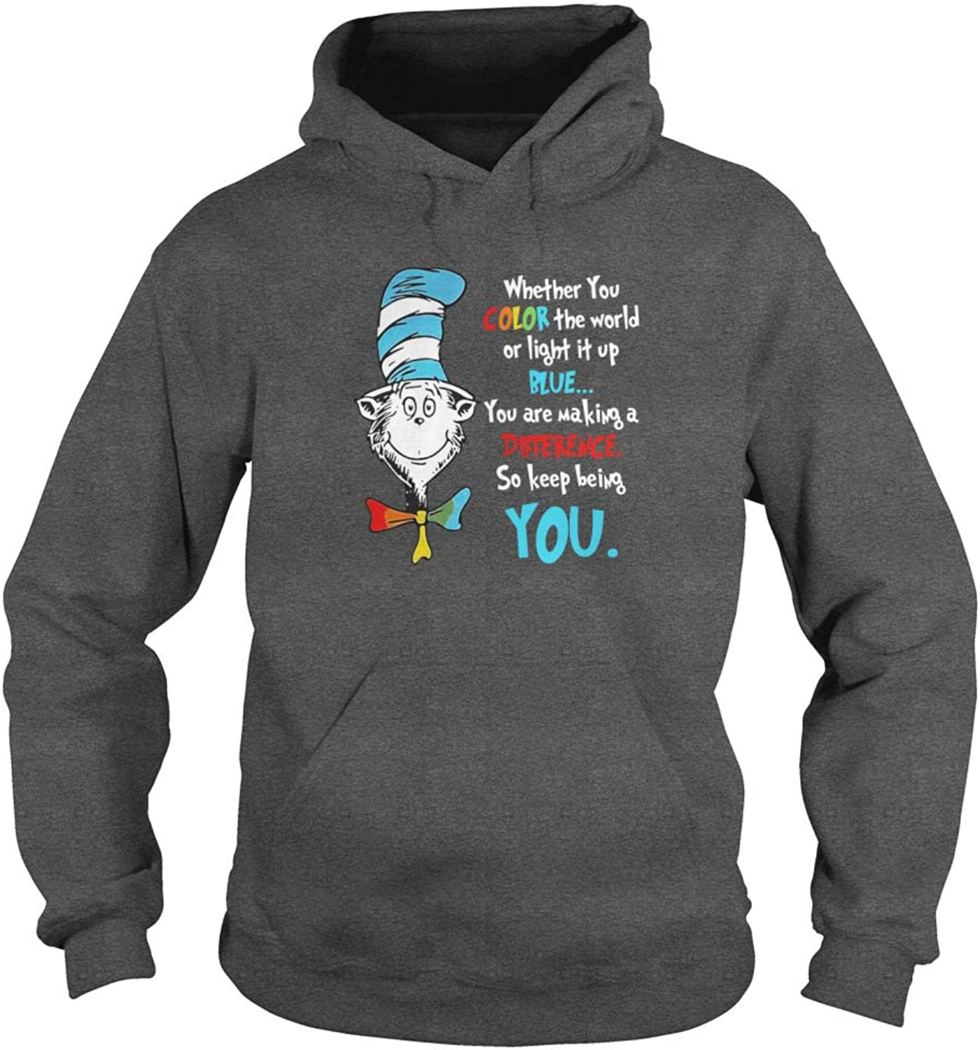 Autism Dr Seuss Whether You color The World of Light It Up blueee TShirt
