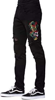 Young and Reckless - Dragon Denim - Black - - Mens - Denim -