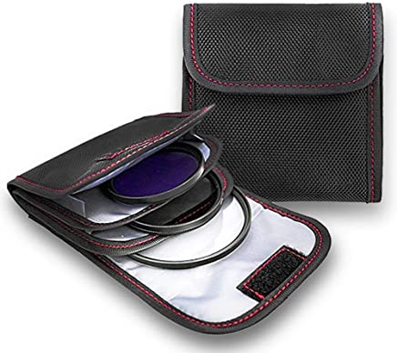 Filter Case, 2PCS 3-Pocket Camera Lens Filter Carry Case Bag Pouch for 25mm-82mm Filters by DomeStar