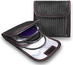 Filter Case, 2PCS 3-Pocket Camera Lens Filter Carry Case Professional Photography Filter Holder Belt Bag Pouch Water-Resis...