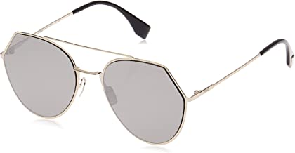 Fendi Women's Ff 0194/S 0T Sunglasses, Light Gold, 55