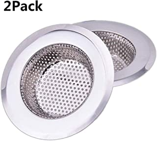 NHSUNRAY 2pcs Stainless Steel Kitchen Sink Strainer Heavy-Duty Drain Filter Fit for Drain Filter for Kitchen Bathroom Basin Laundry Stop Hair Disposal Waste