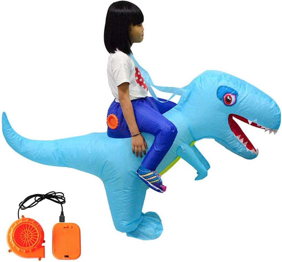 DALIN Disfraz de dinosaurio inflable para adultos y niños