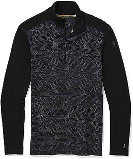 Smartwool Men's Merino 250 Pattern 1/4 Zip Base Layer – 100% Merino Wool
