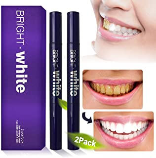 Vanelc Teeth Whitening Pen (2 Pack),Safe 35% Carbamide Peroxide Gel, 20+ Uses, Effective, Painless, No Sensitivity,Easy to Use,Dental Dazzling White Tooth Cleaning Bleaching Kit