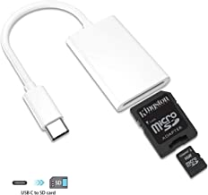 USB-C to SD Card Reader Compatible for iPad Pro 2018, NIKOEO Type C SD Card Camera Reader Adapter Compatible with iPad Pro/MacBook Pro & Air/Huawei Mate 20 & P20 Pro/Pixel 3 2 XL/Samsung and More